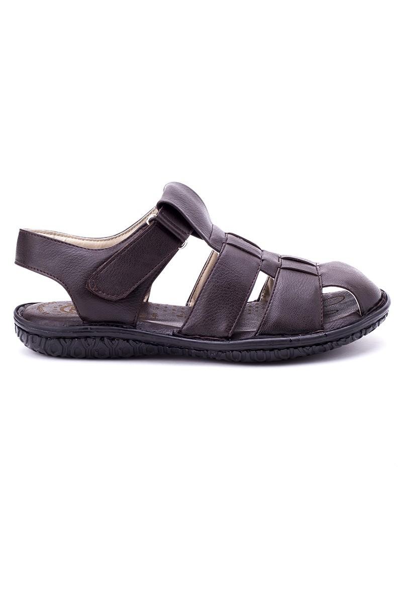 Cotaro Kahverengi CTR-800 Hakiki Deri Erkek Sandalet