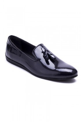 Chaos Lacivert TS-02 Hakiki Deri Erkek Ayakkabı