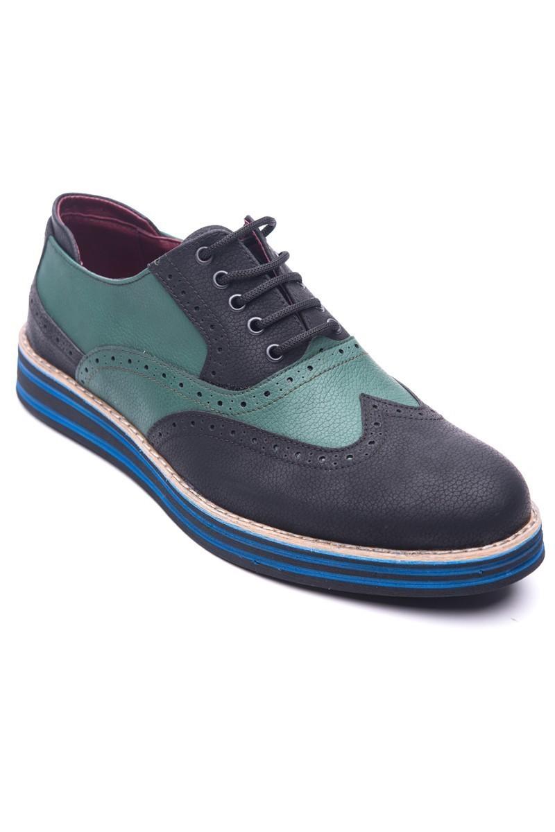 BLUESOIL Siyah-Yeşil BS-20-001 Erkek Ayakkabı