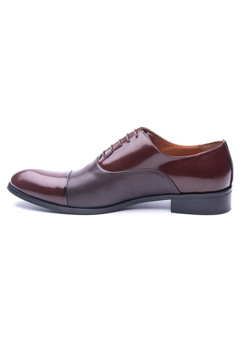 Wenetti Kahverengi WNT-0050 Hakiki Deri Erkek Klasik Ayakkabı