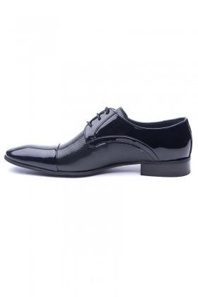 Wenetti Siyah WNT-0080 Hakiki Deri Erkek Klasik Ayakkabı