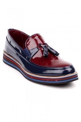 BLUESOIL Lacivert-Bordo BS-20-012-RGN Erkek Ayakkabı