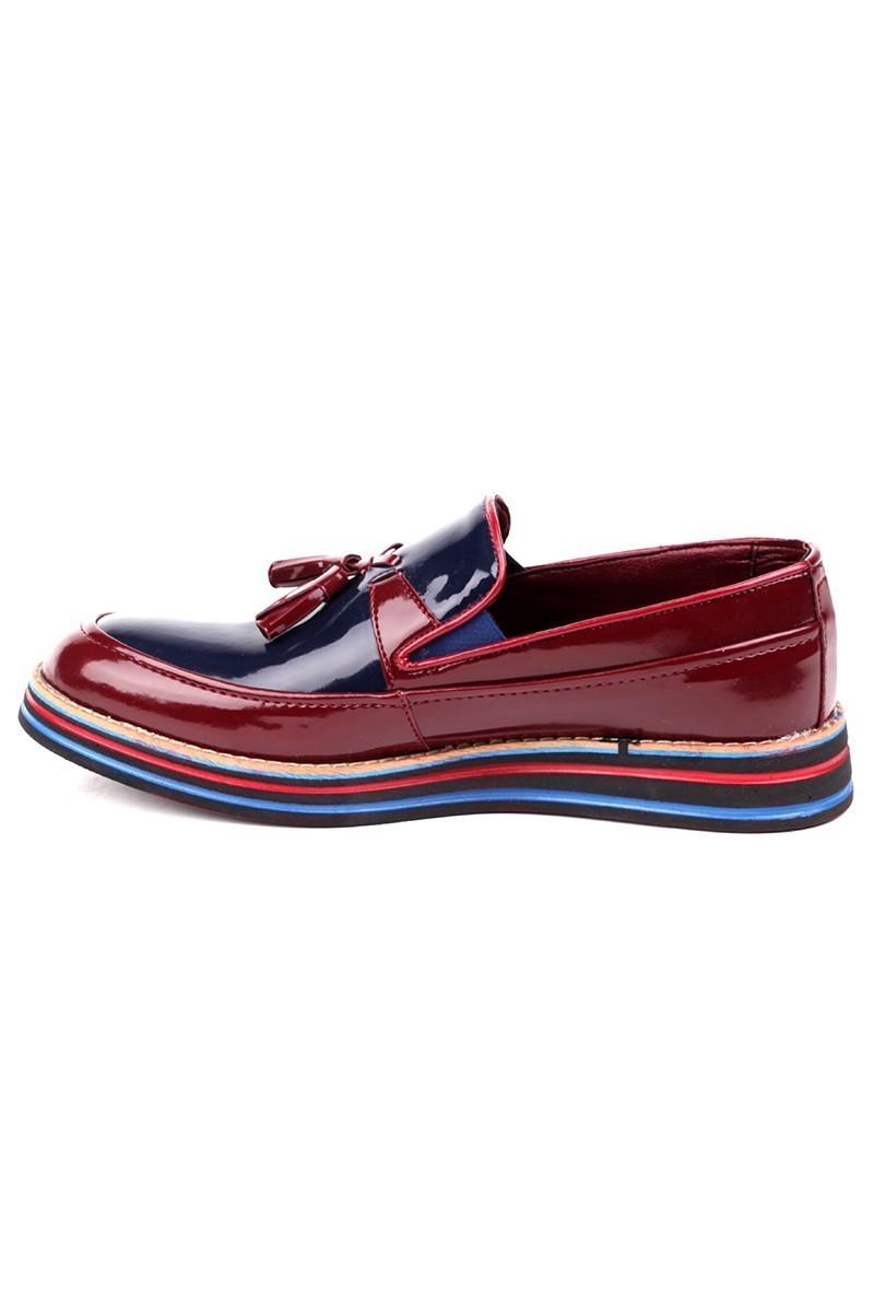 BLUESOIL Bordo-Lacivert BS-20-012-RGN Erkek Ayakkabı