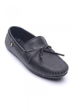 BLUESOIL Siyah BS-2525 Hakiki Deri Erkek Ayakkabı