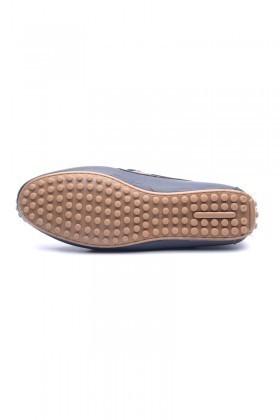 BLUESOIL Lacivert-Taba BS-2525 Hakiki Deri Erkek Ayakkabı
