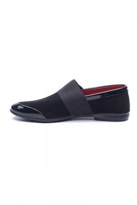 BLUESOIL Siyah BS-059 Hakiki Deri Erkek Ayakkabı