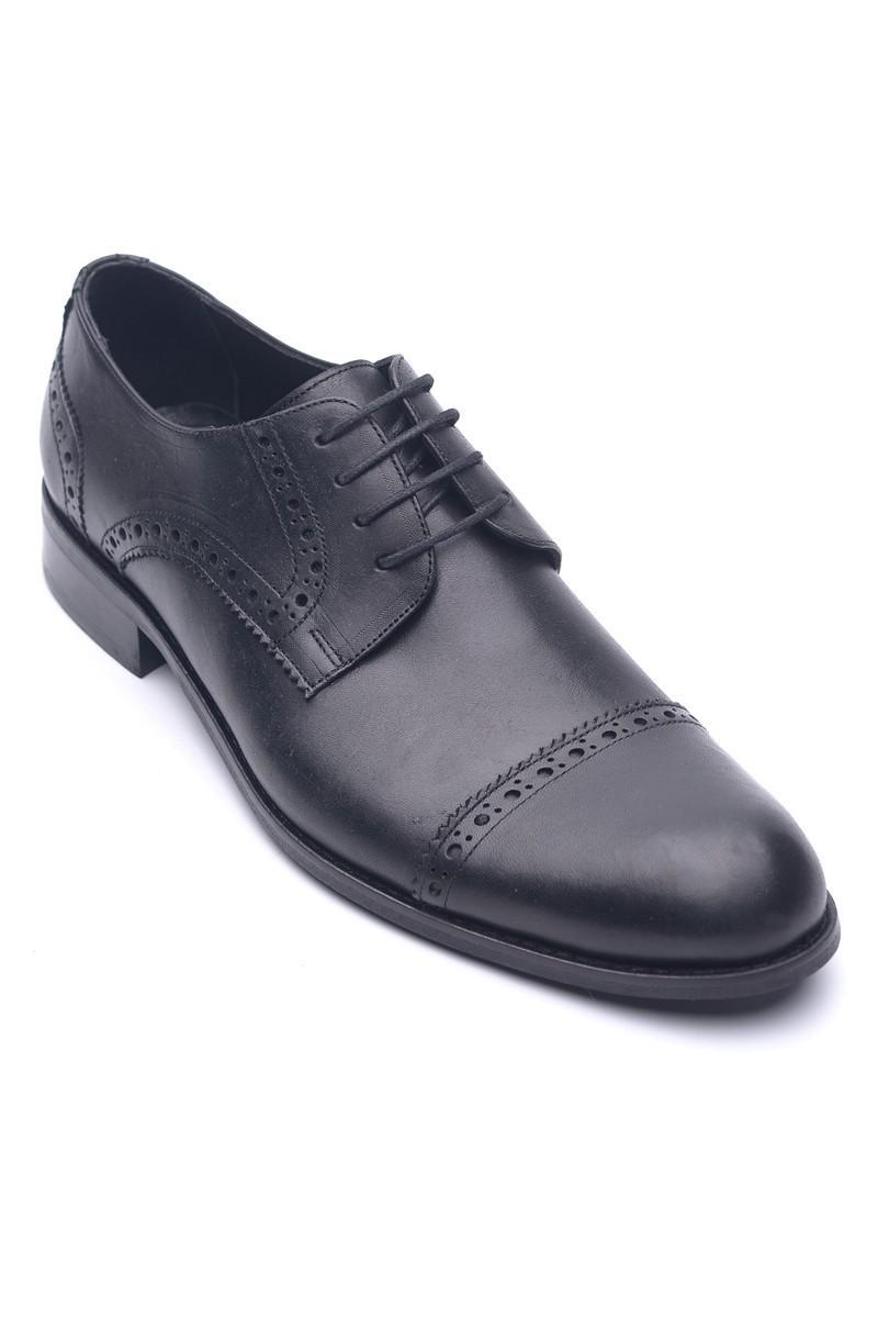 Wenetti Siyah WNT-00105 Hakiki Deri Klasik Erkek Ayakkabı