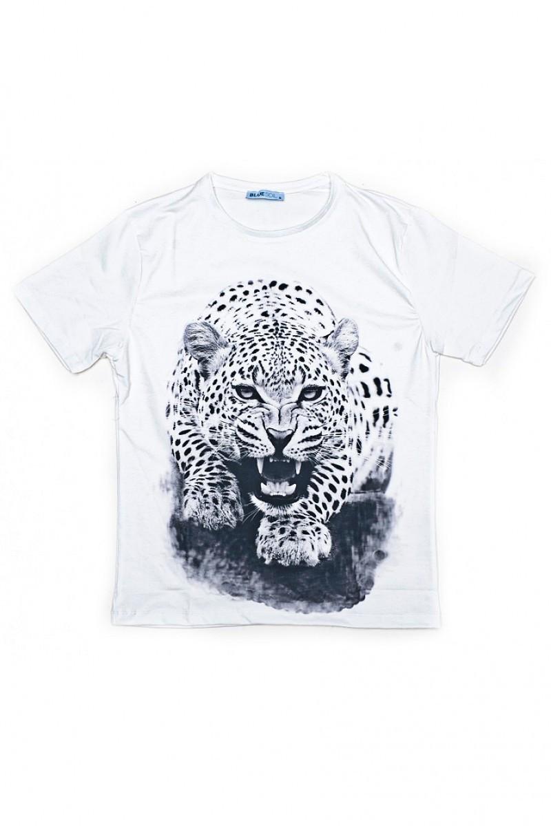BLUESOIL Beyaz BS-08-12 3D Erkek Tişört