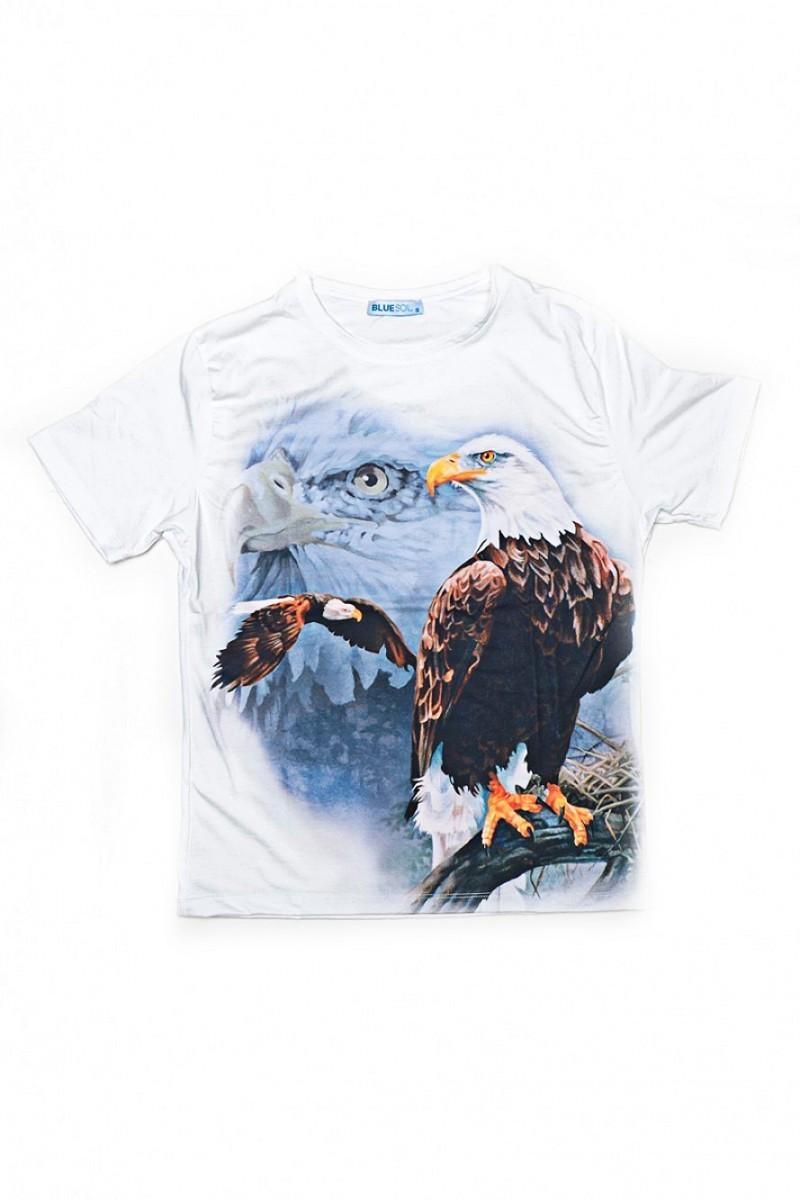 BLUESOIL Beyaz BS-08-14 3D Erkek Tişört