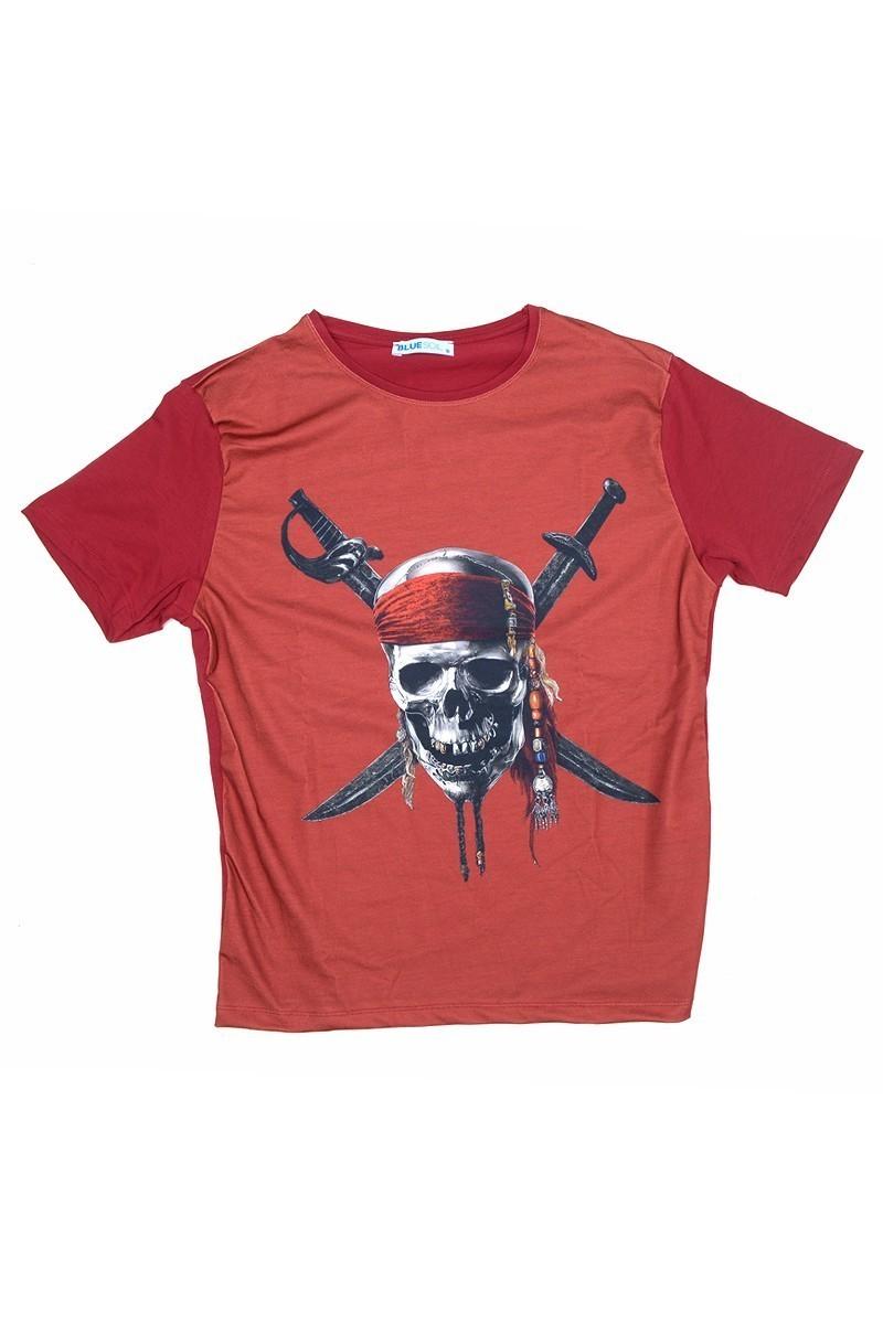BLUESOIL Kırmızı BS-08-25 3D Erkek Tişört