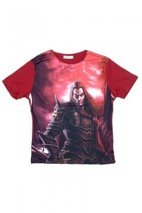 BLUESOIL Kırmızı BS-08-26 3D Erkek Tişört