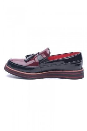 BLUESOIL Siyah-Bordo BS-20-012 Erkek Ayakkabı