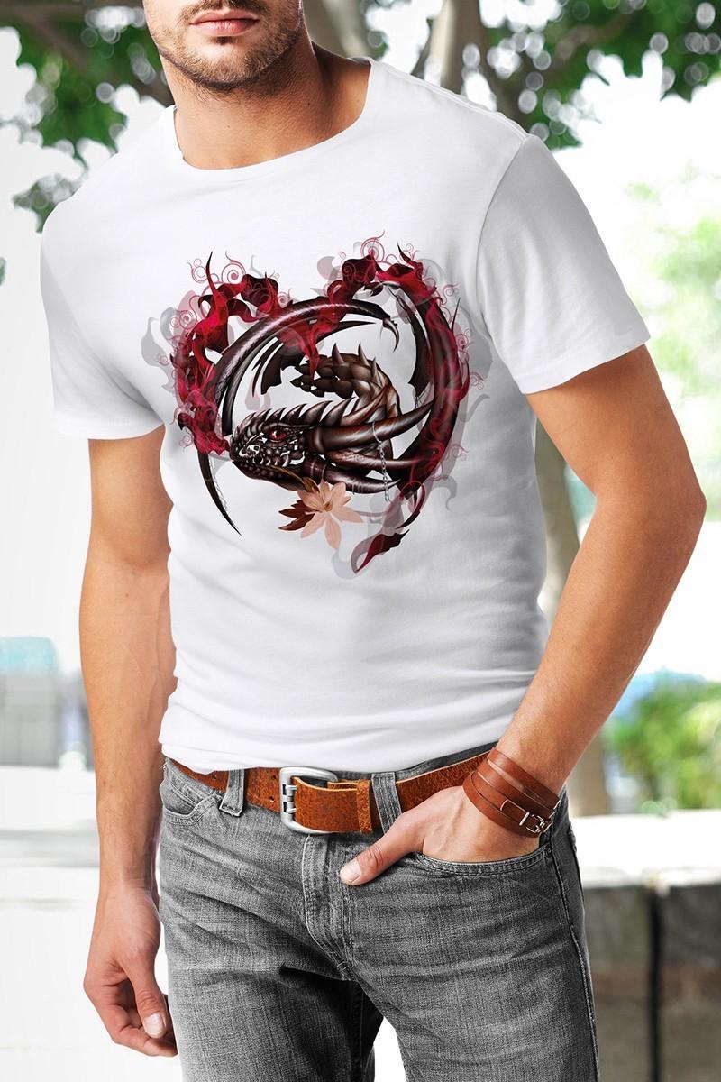 Benekli Fil Beyaz BF-E013 Erkek Tişört