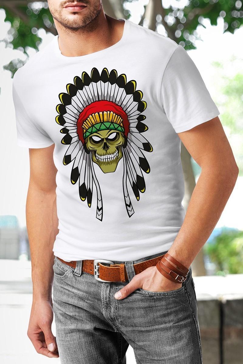 Benekli Fil Beyaz BF-E044 Erkek Tişört