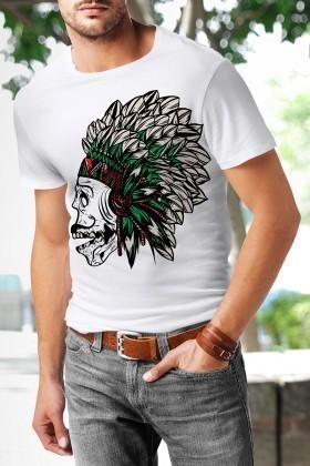 Benekli Fil Beyaz BF-E017 Erkek Tişört