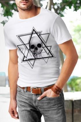 Benekli Fil Beyaz BF-E010 Erkek Tişört