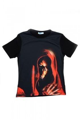 BLUESOIL Siyah BS-08-31 3D Erkek Tişört