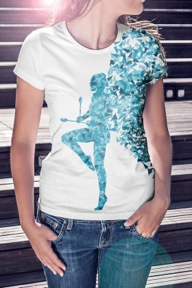Benekli Fil Beyaz BF-B020 Bayan Tişört