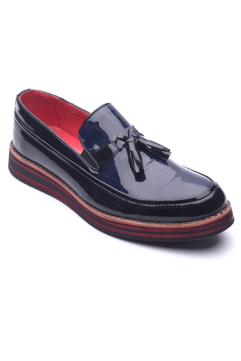 BLUESOIL Siyah-Lacivert BS-20-012-RGN Erkek Ayakkabı