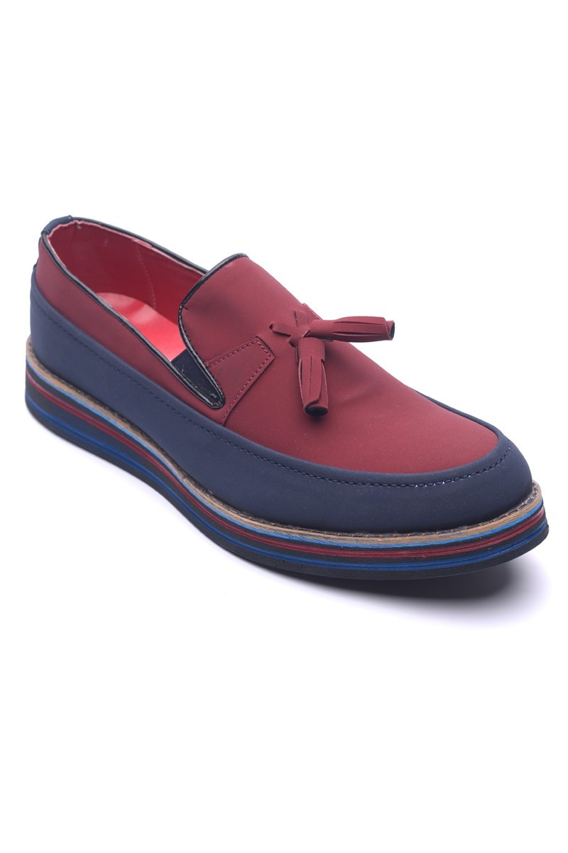 BLUESOIL Lacivert-Bordo BS-20-012 Erkek Ayakkabı