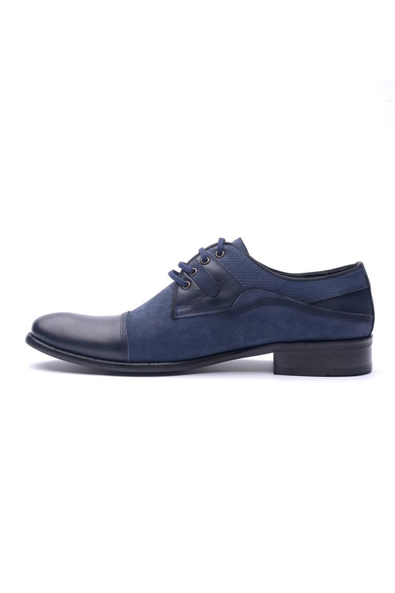 Wenetti Lacivert WNT-1010 Hakiki Deri Klasik Erkek Ayakkabı