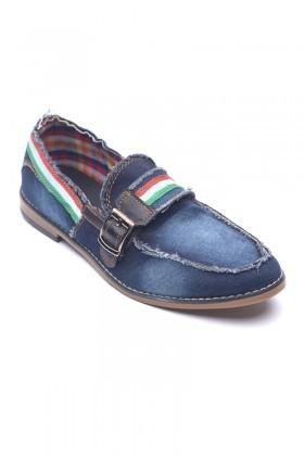 LA POLO Mavi-Siyah LUC-500 Erkek Ayakkabı