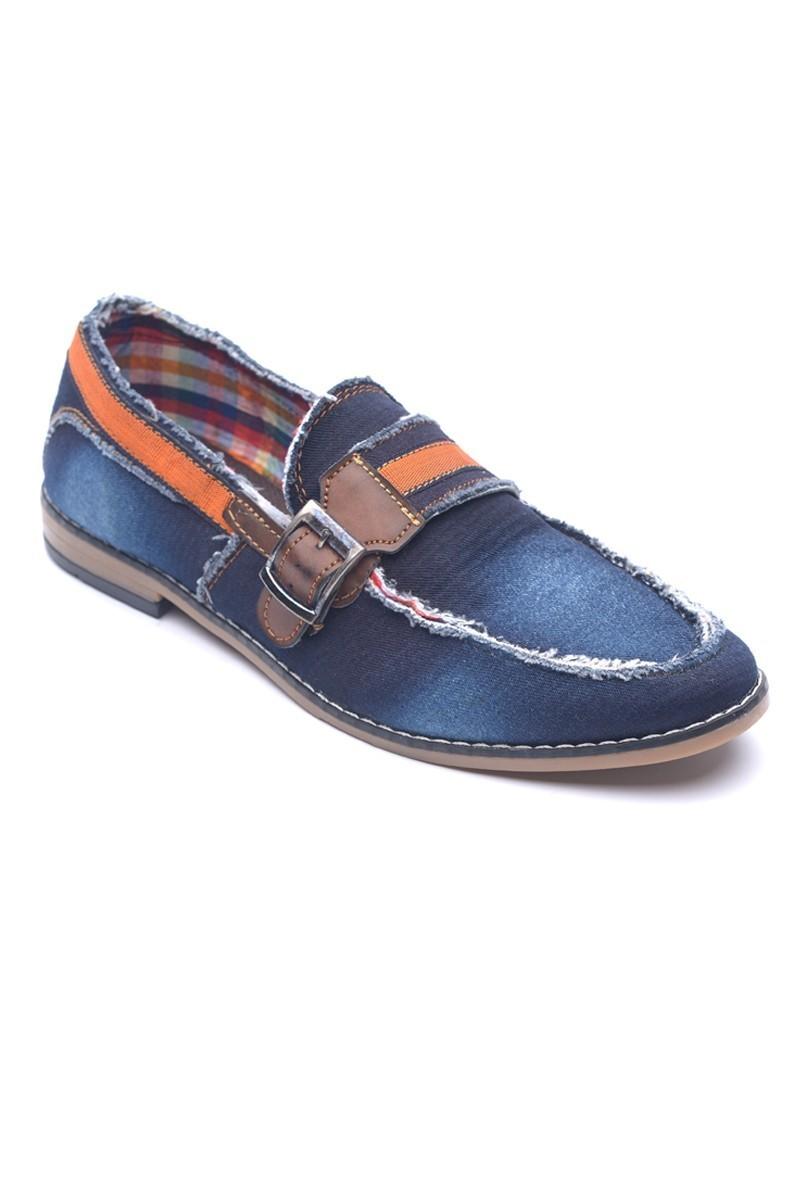LA POLO Mavi-Kahverengi LUC-500 Erkek Ayakkabı