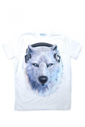 BLUESOIL Beyaz BS-08-32 3D Erkek Tişört