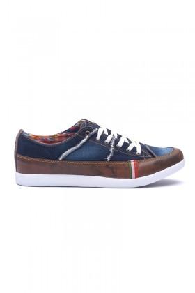 Luca Fontana Mavi-Kahve-Beyaz LUC-285 Erkek Ayakkabı
