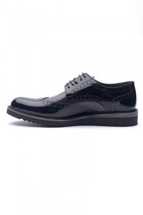 BLUESOIL Siyah BS-2009 Hakiki Deri Erkek Ayakkabı