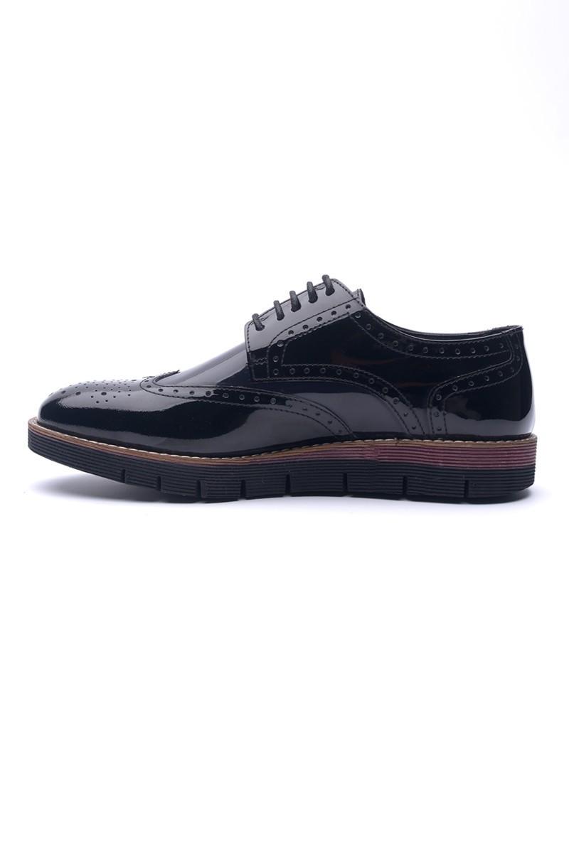BLUESOIL Siyah BS-2010 Hakiki Deri Erkek Ayakkabı
