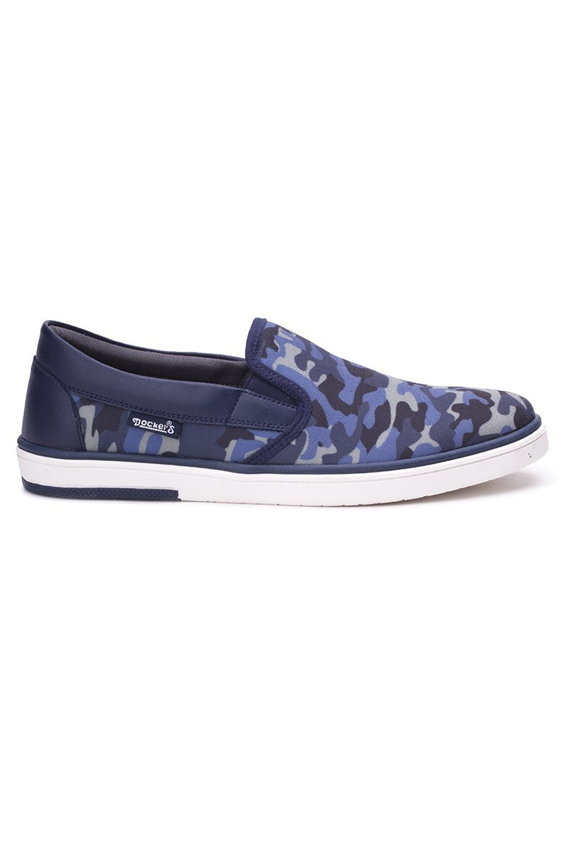 DOCKERS Kamuflaj-Lacivert 218452 Kamuflaj Desen Erkek Ayakkabı