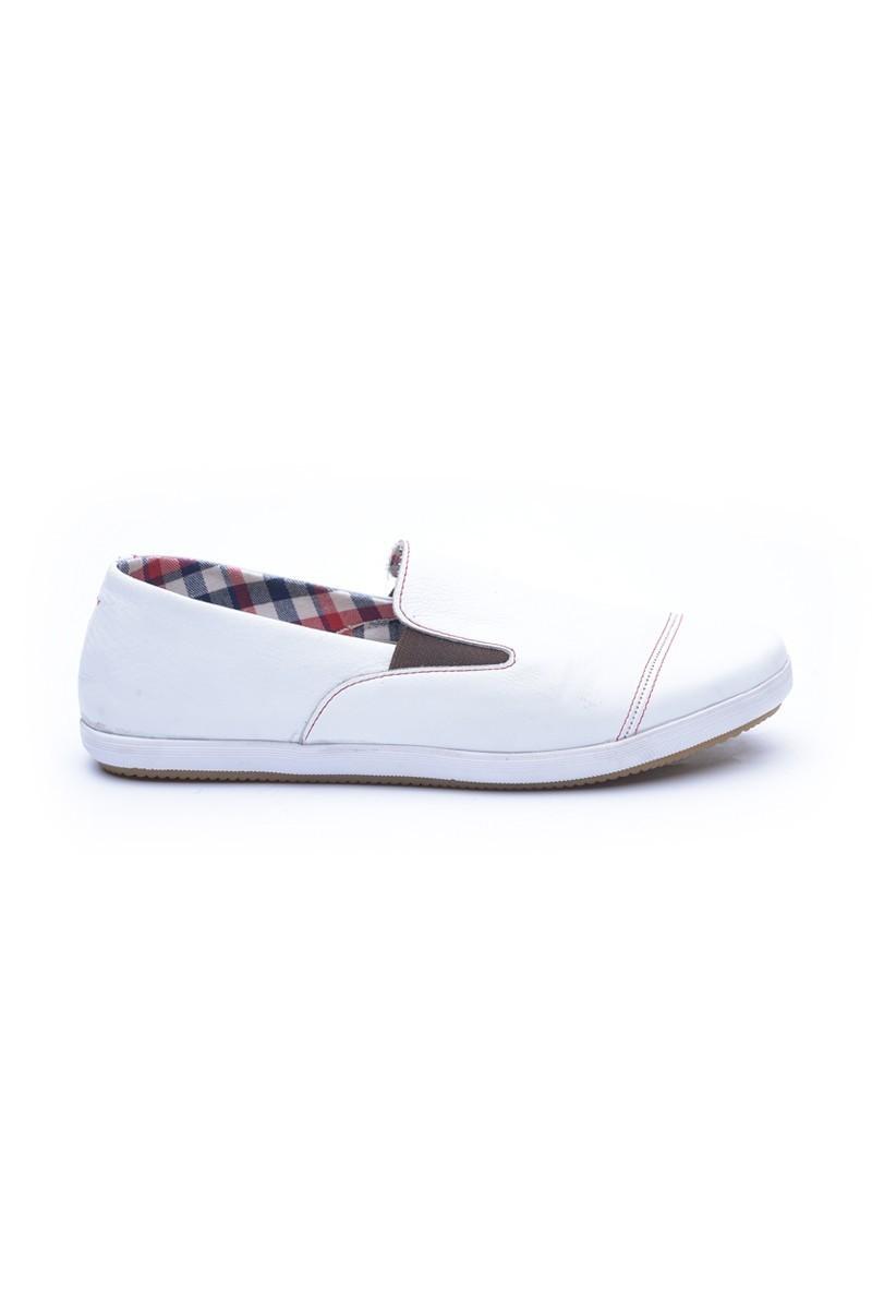 Fresco Beyaz FRC-1011 Hakiki Deri Erkek Ayakkabı