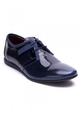 BLUESOIL Lacivert BS-20-66 Hakiki Deri Erkek Ayakkabı
