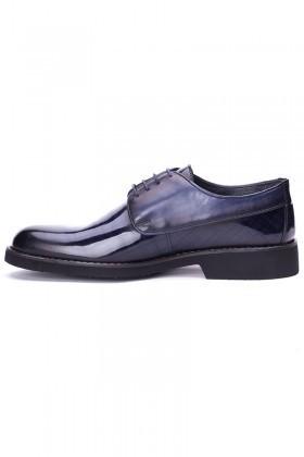 BLUESOIL Lacivert BS-8008 Hakiki Deri Erkek Ayakkabı