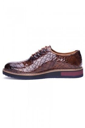 BLUESOIL Kahverengi BS-7007 Hakiki Deri Erkek Ayakkabı