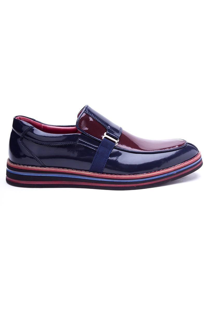BLUESOIL Lacivert-Bordo BS-20-018 Erkek Ayakkabı