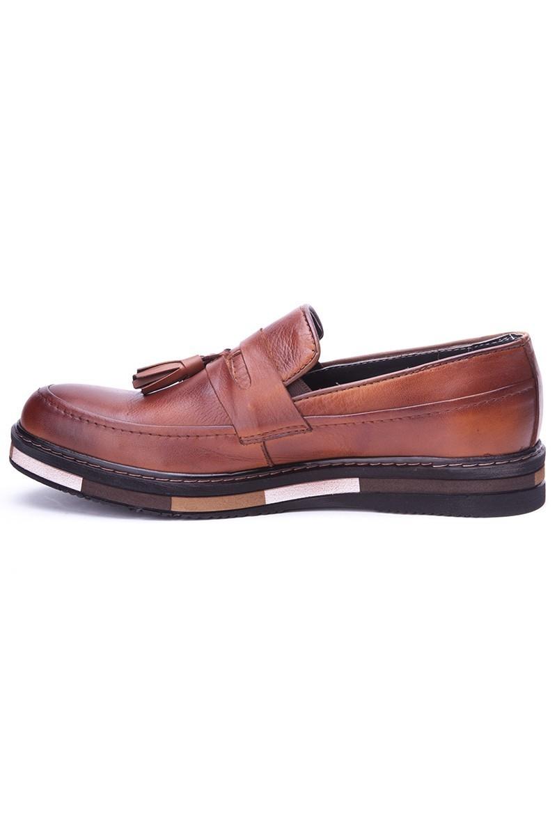 BLUESOIL Taba BS-20-24 Hakiki Deri Erkek Ayakkabı