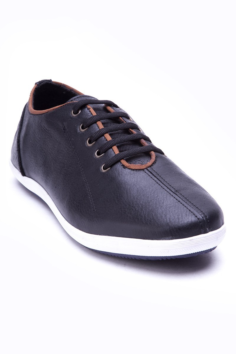Fresco Siyah FRC-12200-DERI Hakiki Deri Erkek Ayakkabı