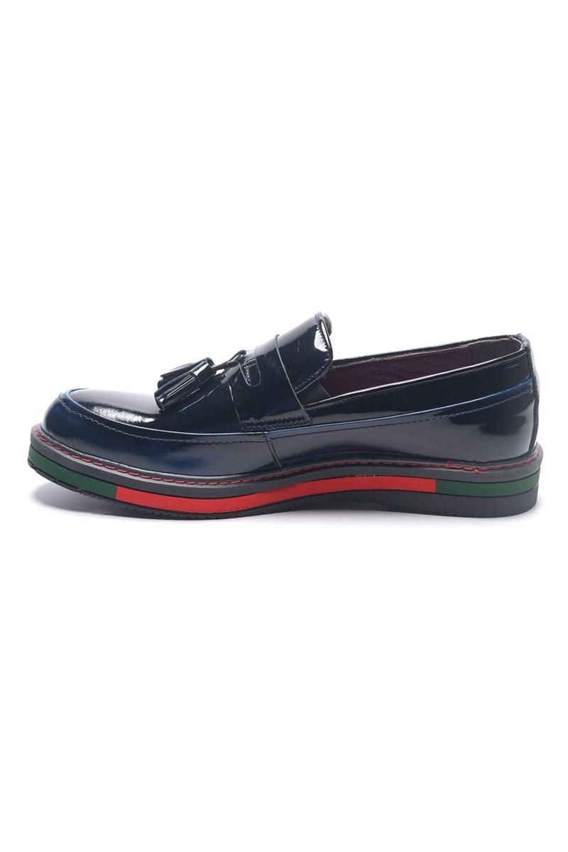 BLUESOIL Lacivert BS-20-24 Hakiki Deri Erkek Ayakkabı