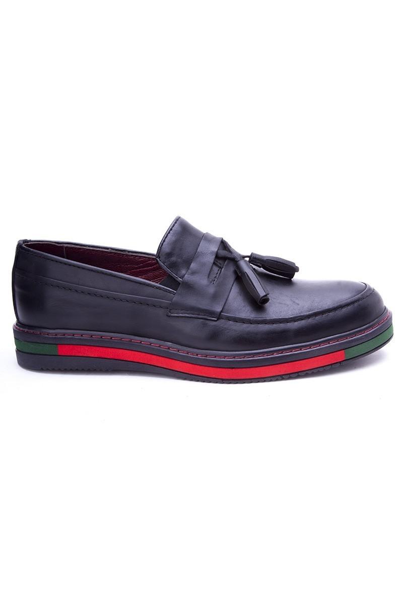 BLUESOIL Siyah BS-20-24 Hakiki Deri Erkek Ayakkabı