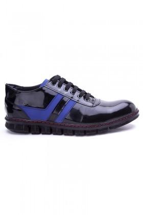 Polomen Siyah-Mavi PLM-1090-RGN Erkek Ayakkabı