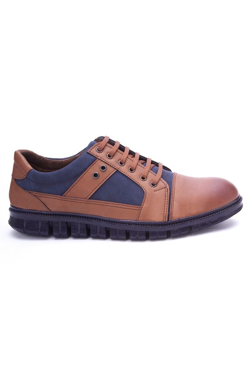 Polomen Taba-Lacivert PLM-1091 Erkek Ayakkabı