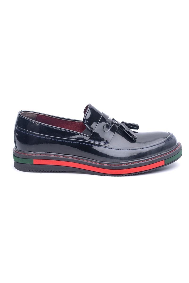 BLUESOIL Siyah BS-20-24-ESKİTME Hakiki Deri Erkek Ayakkabı