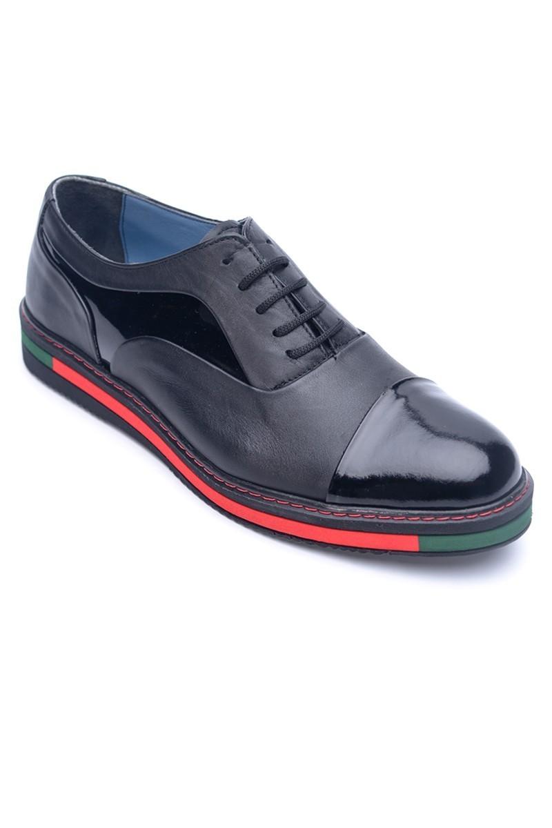 BLUESOIL Siyah BS-20-26 Hakiki Deri Erkek Ayakkabı