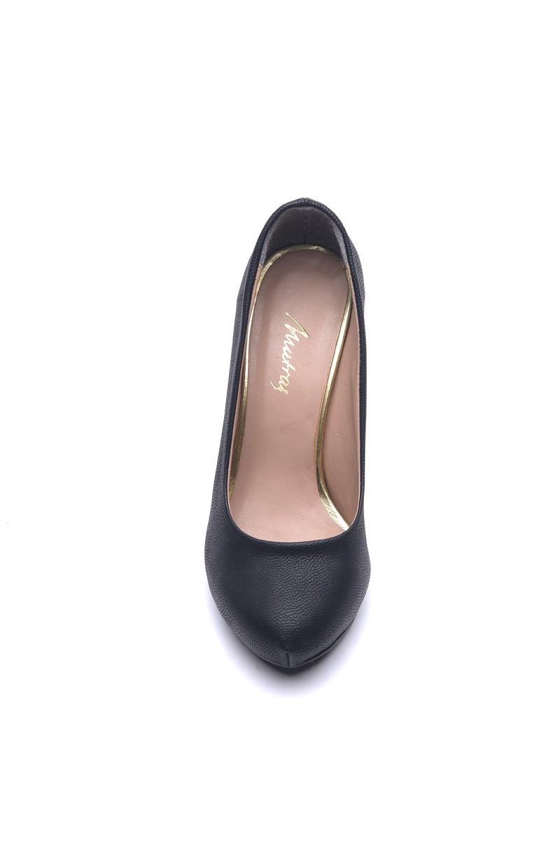 Matraş Siyah MT-1821-S Klasik Topuk Bayan Ayakkabı