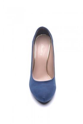 Matraş Lacivert MT-1821-L Klasik Topuk Bayan Ayakkabı