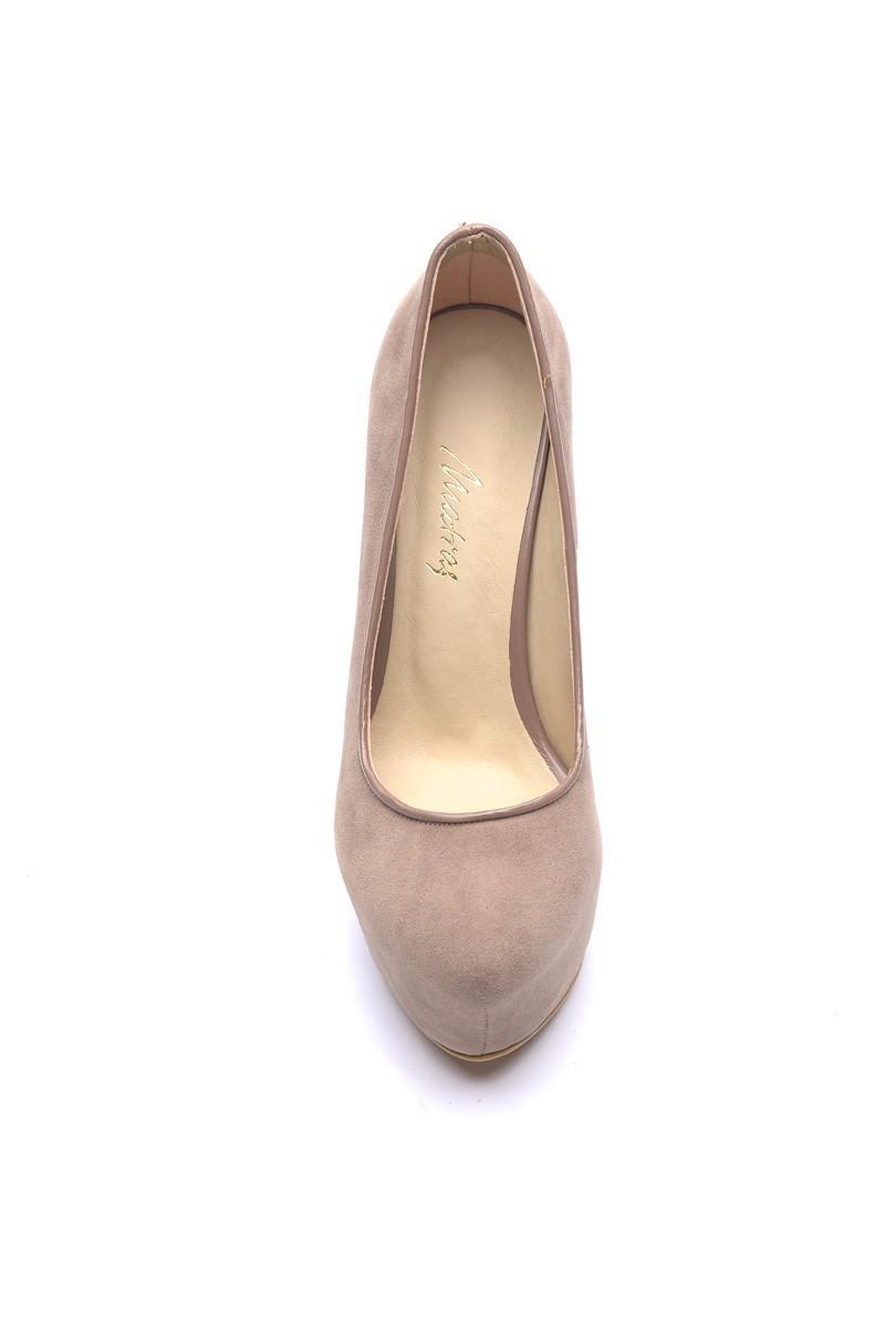 Matraş Vizon MT-1819-V Deri Platform Topuk Bayan Ayakkabı