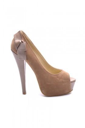Matraş Vizon MT-1803 Deri Platform Topuk Bayan Ayakkabı
