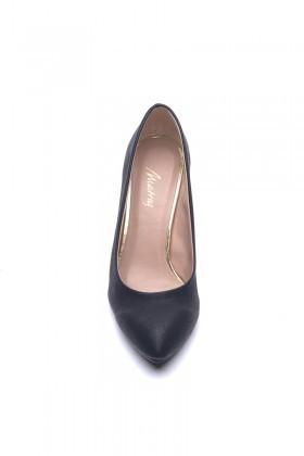 Matraş Siyah MT-1797-S Klasik Topuk Bayan Ayakkabı